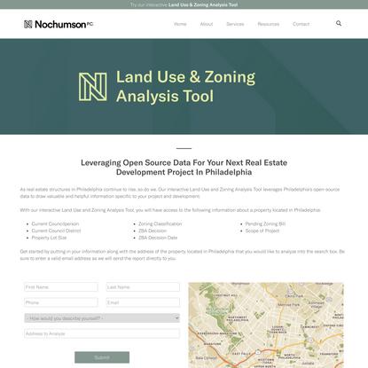 Land Use & Zoning Analysis Tool - Nochumson P.C.