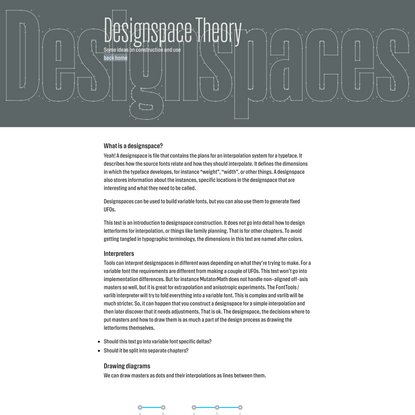 Designspace Theory