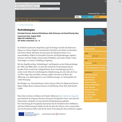 Technökologien | transversal texts