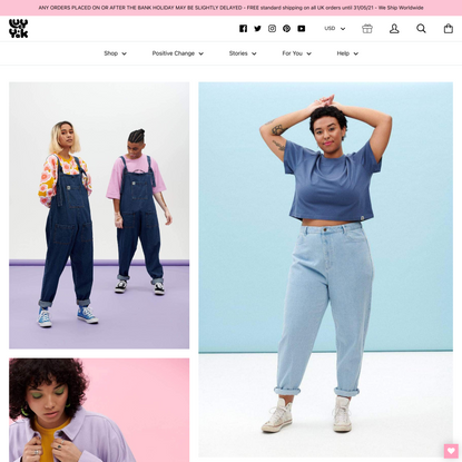 Lucy & Yak ethical clothing / handmade organic dungarees / independent