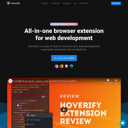 Hoverify | An all-in-one browser extension that helps you in web development
