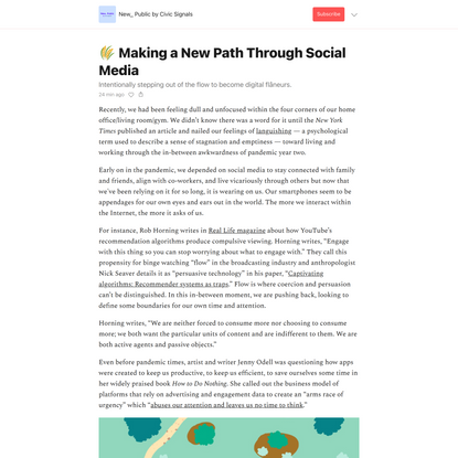 🌾 Making a New Path Through Social Media - New_ Public by Civic Signals