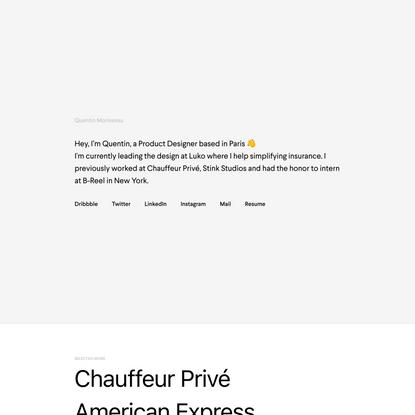 Quentin Morisseau — Product Designer