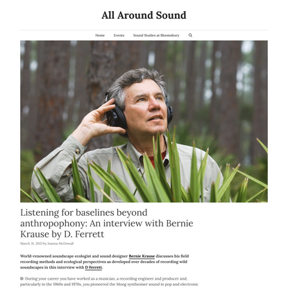 An interview with Bernie Krause