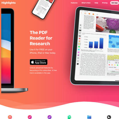Highlights - The PDF Reader for Research on Mac, iPad & iPhone