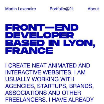 Martin Laxenaire   Creative front-end developer