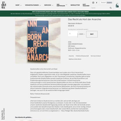 Das Recht als Hort der Anarchie — Zabriskie