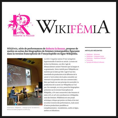 WIKIFÉMIA – Une projet de Roberte la Rousse