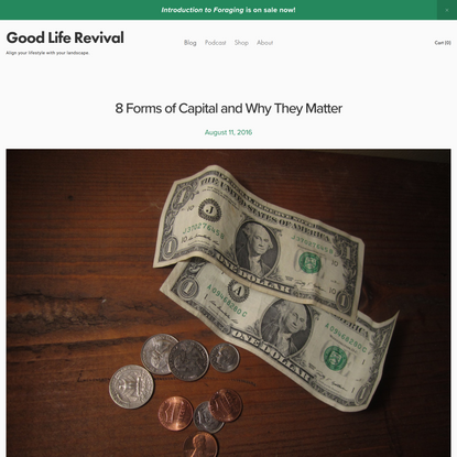 8 Forms of Capital and Why They Matter — Good Life Revival