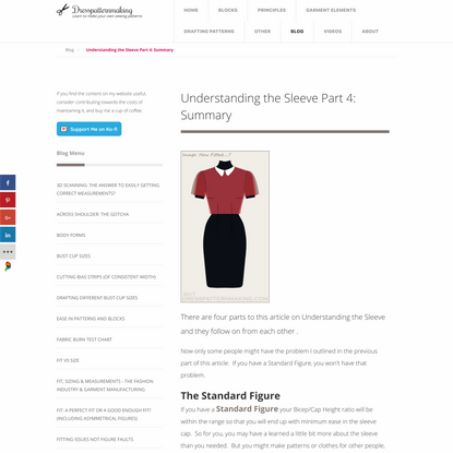 Understanding the Sleeve Part 4: Summary - Dress Patternmaking