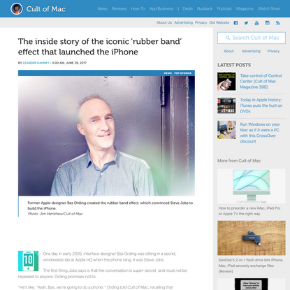 Inside story of the iconic iOS rubber band effect that launched the iPhone