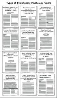 types of evolutionary psychology paper - by Stacy Farina @stacyfarina