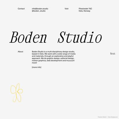 Boden Studio