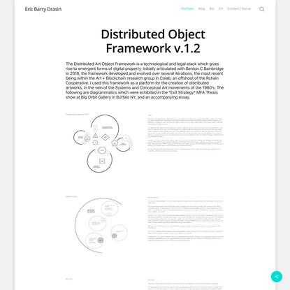 Distributed Object Framework v.1.2 – Eric Barry Drasin