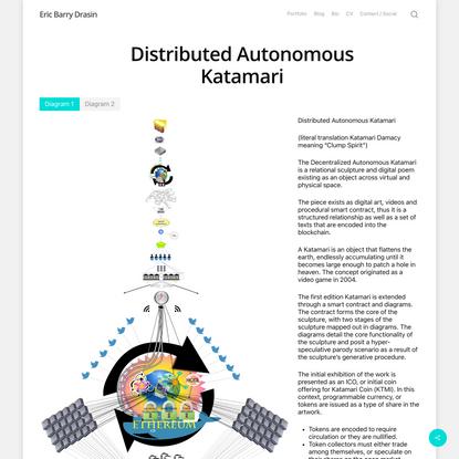 Distributed Autonomous Katamari – Eric Barry Drasin