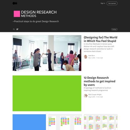 Design Research Methods – Medium