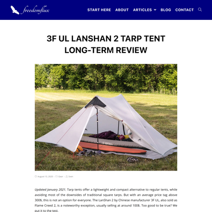 3F UL LanShan 2 Tarp Tent Long-Term Review - freedomflux