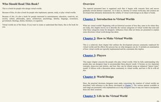 Richard Bartle, Designing Virtual Worlds, 2003