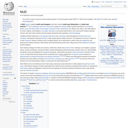 MUD - Wikipedia