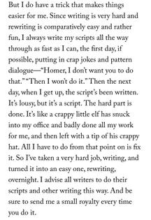 "John Swartzwelder, on writing ""The Simpsons"""