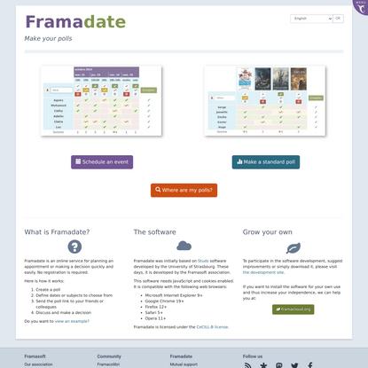 Make your polls - Framadate