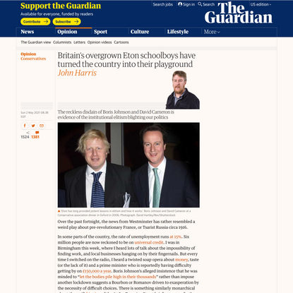 Britain's overgrown Eton schoolboys have turned the country into their playground | Conservatives