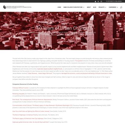 60 Years of Urban Change