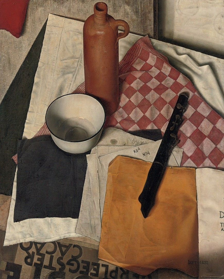 Dick Ket Stilleven, still life with flute