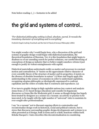 The Grid & Systems of Control Draft–5.2