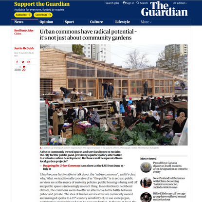 Urban commons have radical potential – it's not just about community gardens