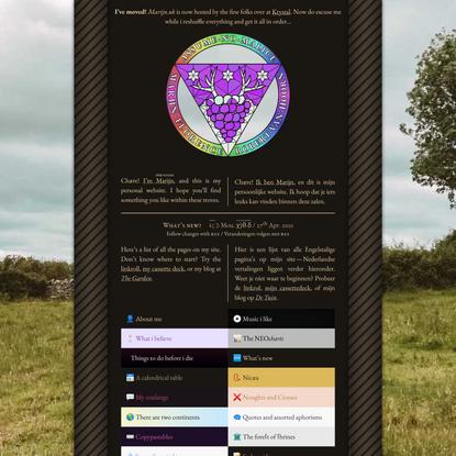 Marijn's site 🍇