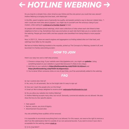 Hotline Webring