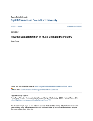 How the Democratization of Music Changed the Industry — Ryan Feyre