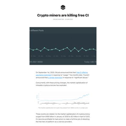 Crypto miners are killing free CI