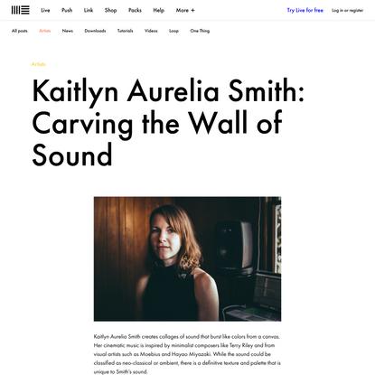Kaitlyn Aurelia Smith's wall of sound