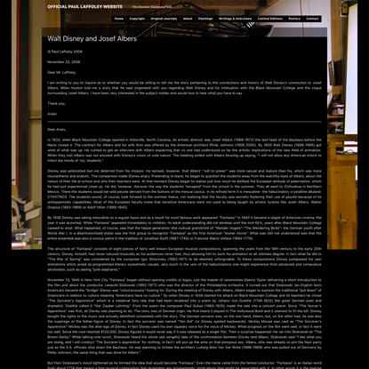 » Walt Disney and Josef Albers Official Paul Laffoley Website