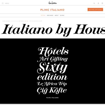 Plinc Italiano by House Industries
