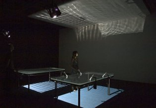 """Pulse Tank"" (2008) by Rafael Lozano-Hemmer"