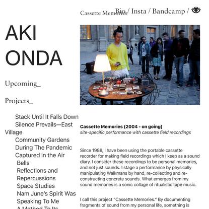 Cassette Memories — Aki Onda
