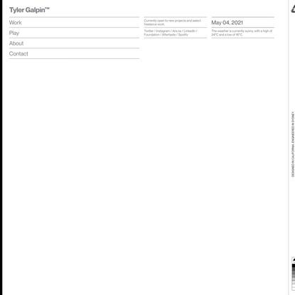 Tyler Galpin — Designer