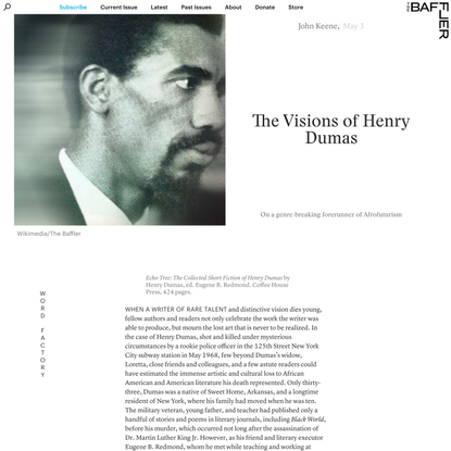 The Visions of Henry Dumas | John Keene