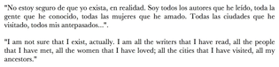 Jorge Luis Borges, from a 1981 interview in El Pais.