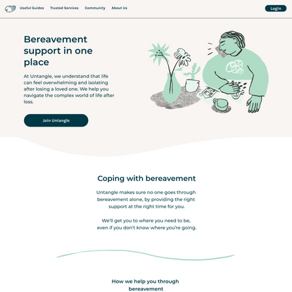 Grief support   Coping with bereavement   Untangle Grief