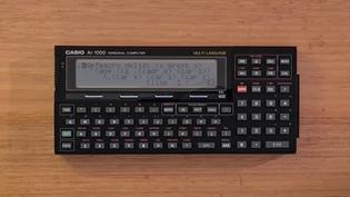Casio AI-1000 Pocket Lisp Computer (1989)
