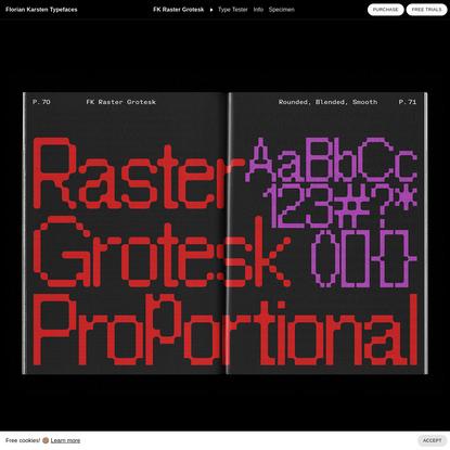 FK Raster Grotesk | Florian Karsten Typefaces