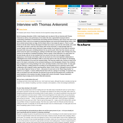 Interview with Thomas Ankersmit
