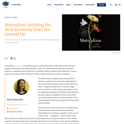 Mutualism: Building the Next Economy from the Ground Up | Ashoka | Everyone a Changemaker