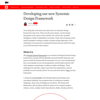 Developing our new Systemic Design Framework