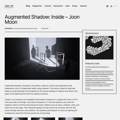 Augmented Shadow: Inside – Joon Moon – CreativeApplications.Net