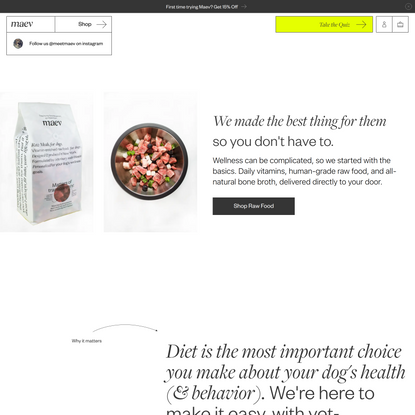 Maev   Wellness for dogs & their humans.